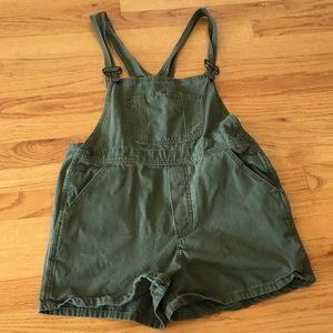 brandy melville olive green overalls
